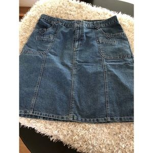 A-Line Denim Skirt by Cherokee Size 16